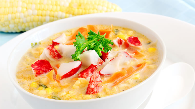 Crab and Sweetcorn Soup